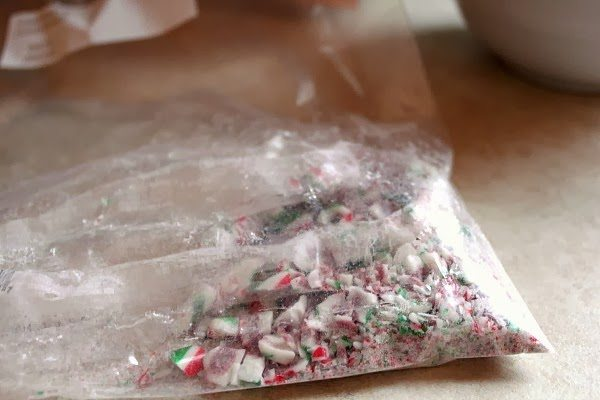 How to Make Peppermint Bark - A Great Mason Jar Gift Idea. Step 4 - Add Candy Cane