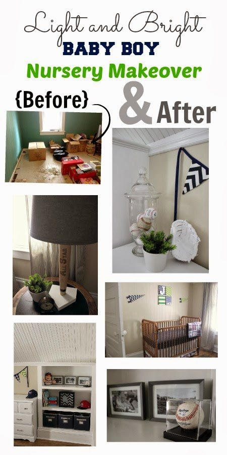 A Baby Boy Nursery Before and After: From dark and a little scary to light, bright, and fresh-looking!