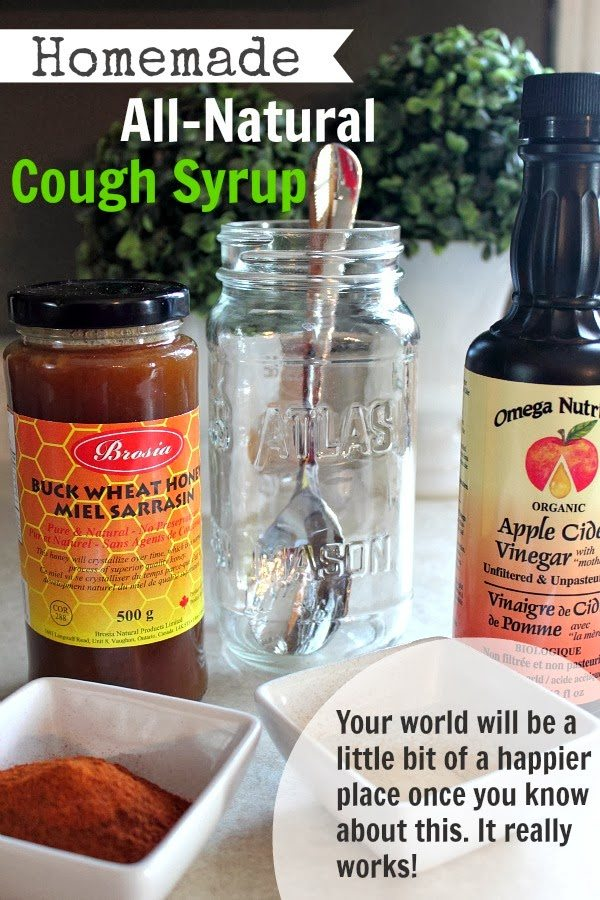 This homemade cough syrup really works! Use these all-natural ingredients to soothe your sore throat and calm your cough without ever having to step foot in a pharmacy!