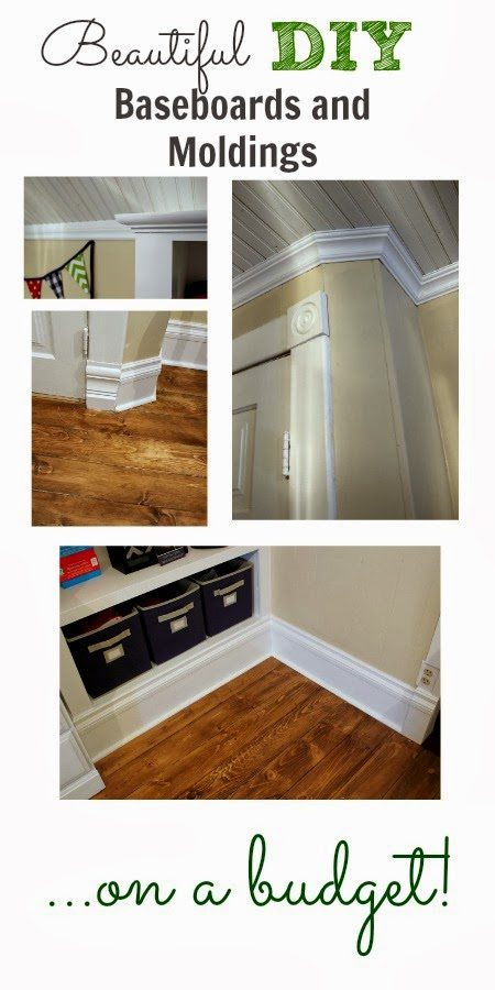 Beautiful DIY Baseboards And Moldings On A Budget