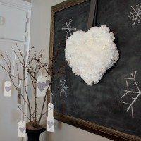DIY Fluffy, Puffy, Coffee Filter Heart Wreath