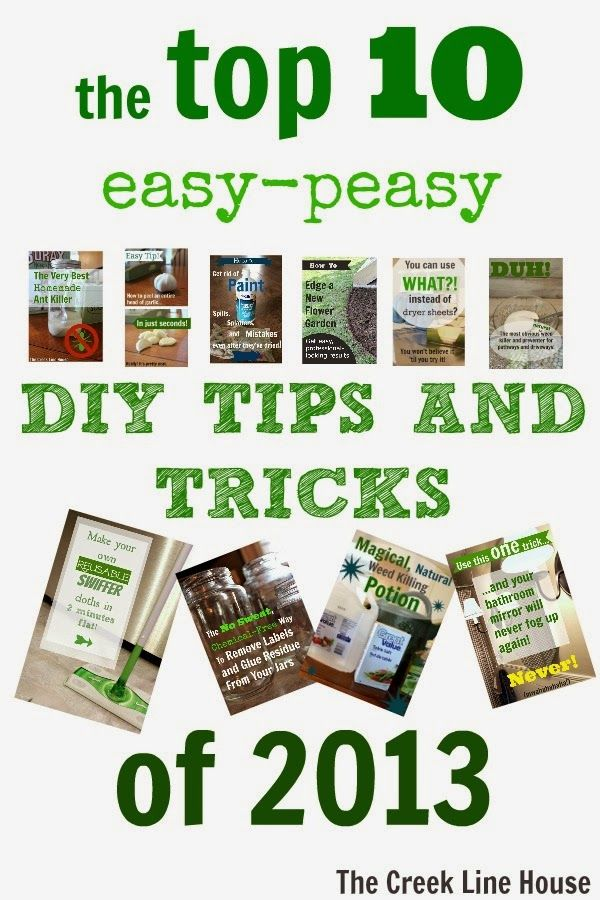 10 great easy homekeeping tips! All the best from 2013!