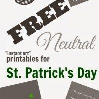 3 Free Neutral Instant Art Printables for St. Patrick's Day!