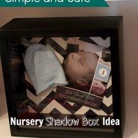 Simple and Cute Nursery Shadow Box Idea for the Craftily-Challenged!