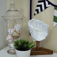 Make a DIY Baseball Keepsake from your Kid's Old Glove!