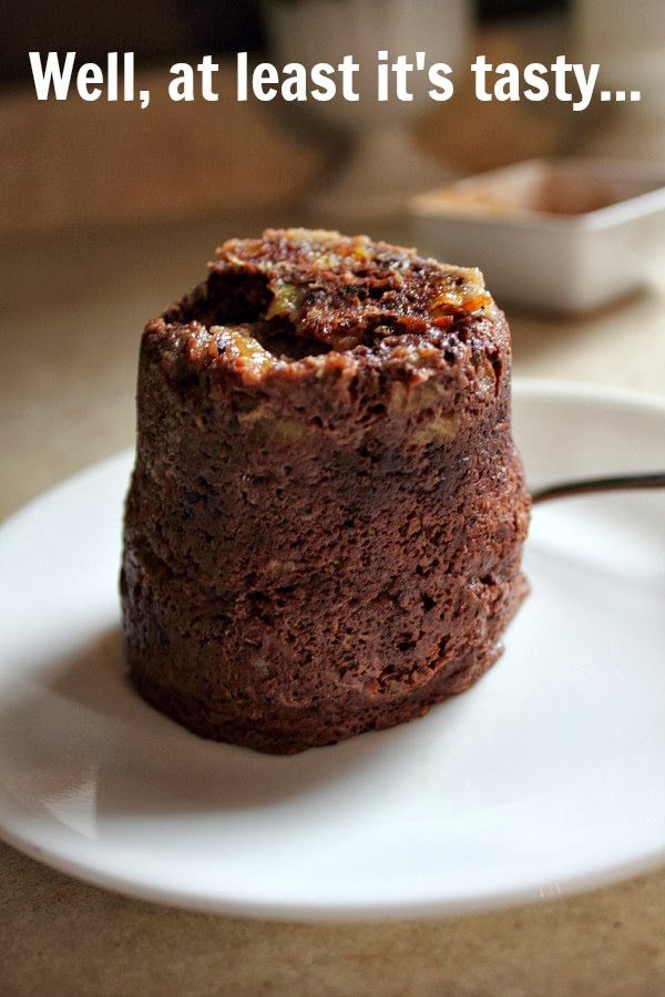 This healthy chocolate mug cake really hits the spot and it uses all real, natural ingredients!