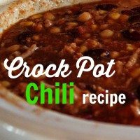 5 minute Crock Pot Chili Recipe