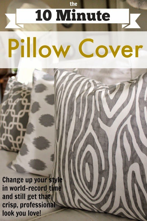 You can make your own DIY pillow cover in just 10 minutes with this super simple method! Perfect for beginner sewers!