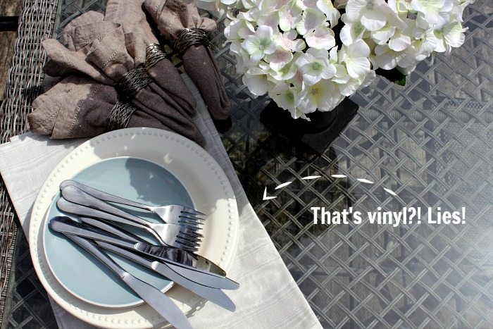 DIY vinyl placemats! No Sew!
