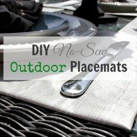 DIY No Sew Outdoor Placemats