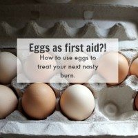 How I used eggs to treat my burn. Does it work for you?