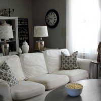 Grey Living Room Before and After: How to Love Your Ugly Living Room!