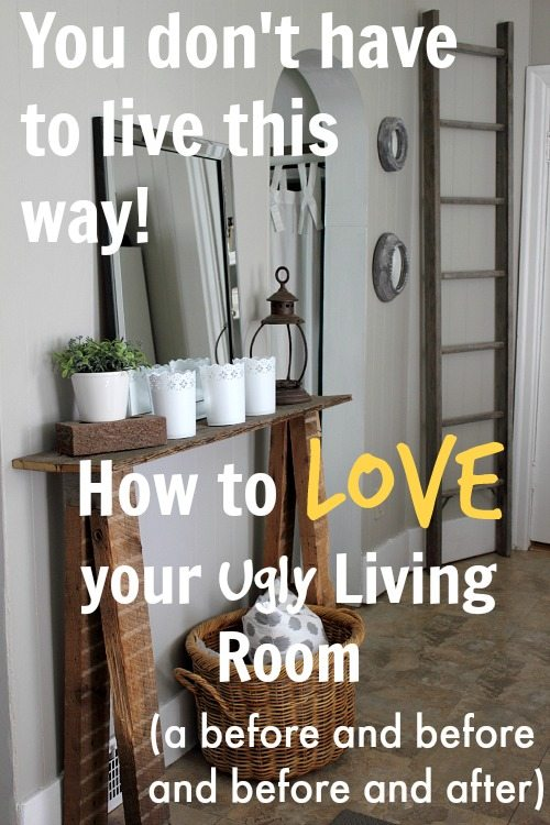 Grey Living Room Before And After How To Love Your Ugly Living Room The Creek Line House