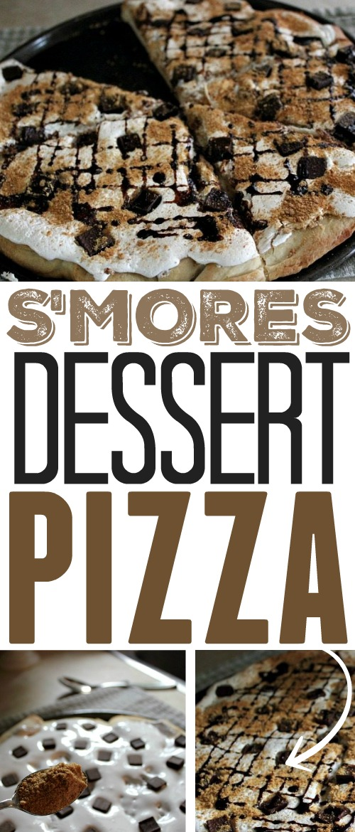Way easier and so much more fun than a plain ol' pie. Make this s'mores dessert pizza and be a big hit at your next Summer BBQ!
