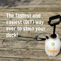 Quick and Easy DIY Deck Staining