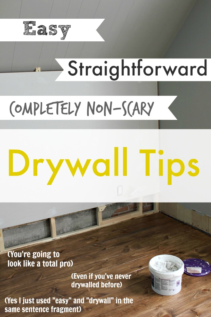 For real. Drywall is an easy DIY! You can DO it! No need to be intimidated AT ALL.