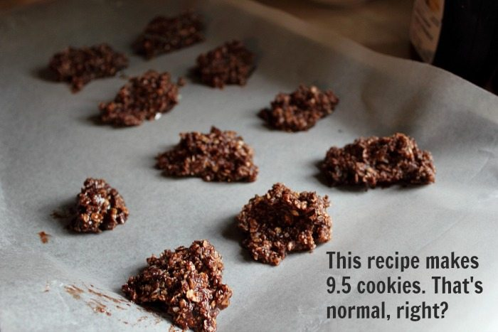 Healthy, delicious, gluten-free, nut-free, no-bake cookies! Say that 10 times fast!