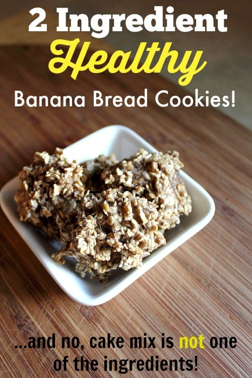 This recipe for banana bread cookies is one of my all-time favorites to share.  You're going to absolutely love these healthy cookies that only need two ingredients.