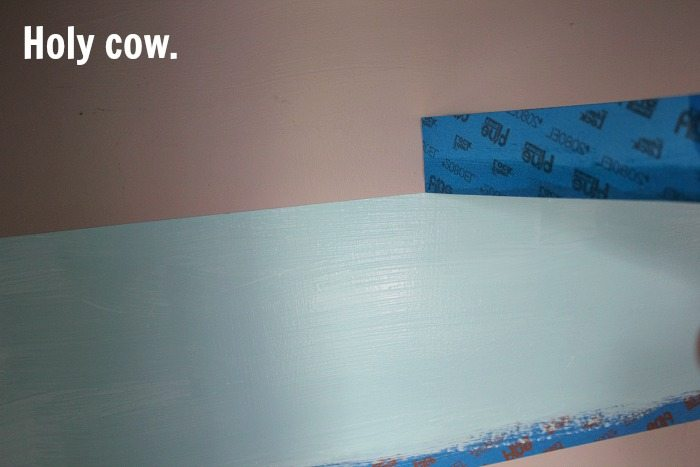 Super handy tip! Painting perfect wall stripes doesn't have to be an aggravating experience!