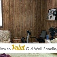 How to paint old wall paneling