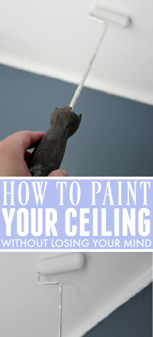 Sharing some easy ceiling painting tips today that make the whole job so much less painful. No one loves to paint ceilings, but you can at least keep your sanity. :)