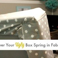 How to cover an ugly box spring in fabric!