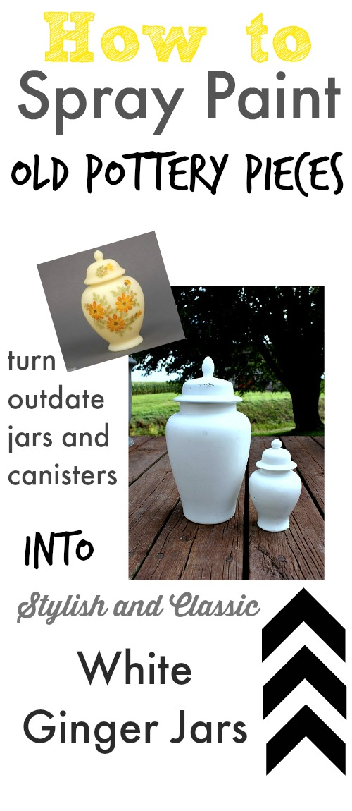 Turn outdated pottery pieces into stylish decor items with spray paint!
