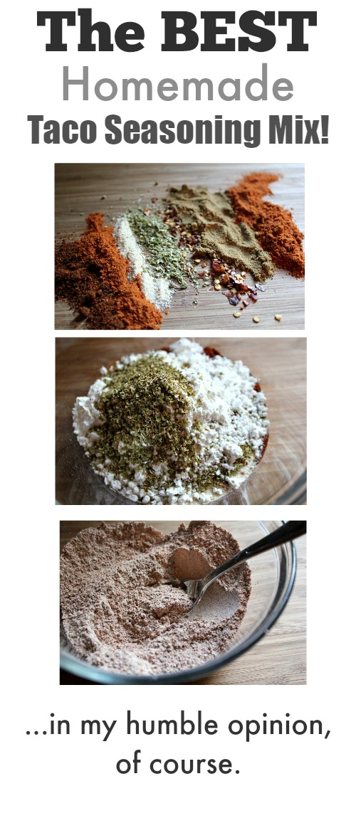How to make your own homemade taco seasoning mix! This way is way ...