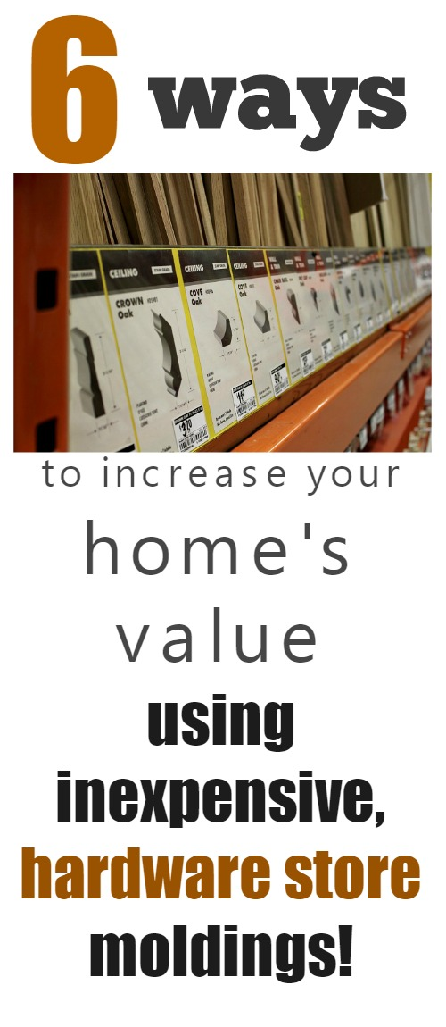 Increase your home's value by adding in a few basic details with simple moldings! Gotta try some of these!