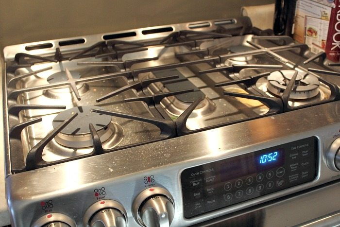 How to really clean your gas stove the creek line house How to clean top of oven