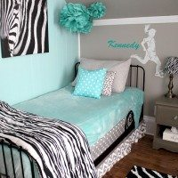 Turquoise and Grey Tween Bedroom: A Before and After!
