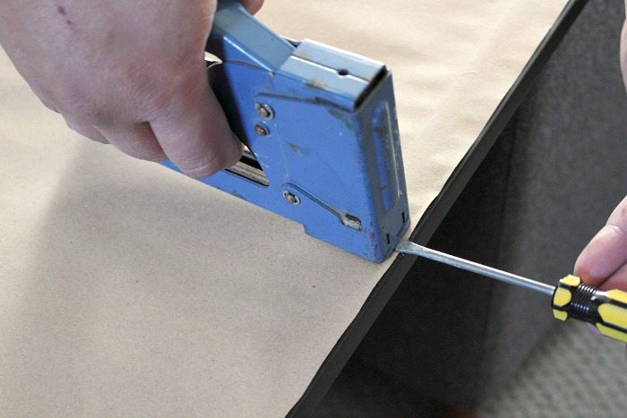 How to hang a picture. Make your own DIY picture hanging hardware using two simple tools. This little trick works great to hang any picture or mirror quickly and easily.