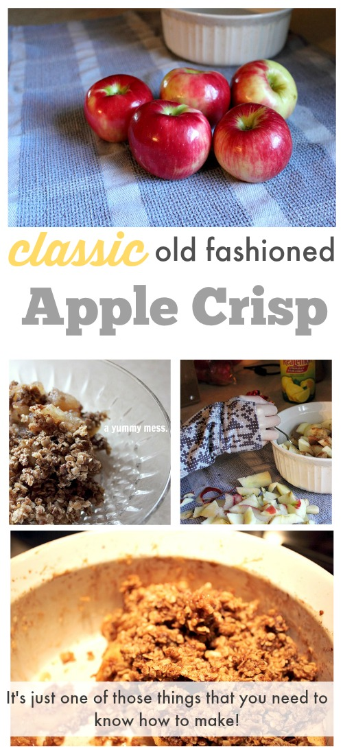 Classic and crowd-pleasing apple crisp! Make it once and you'll find yourself making it over and over again. I used to love apple crisp when I was young!