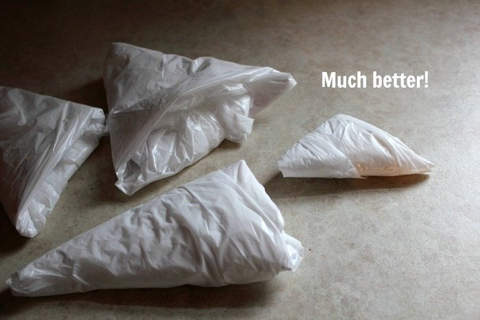 How to Fold Grocery Bags - No More Clutter