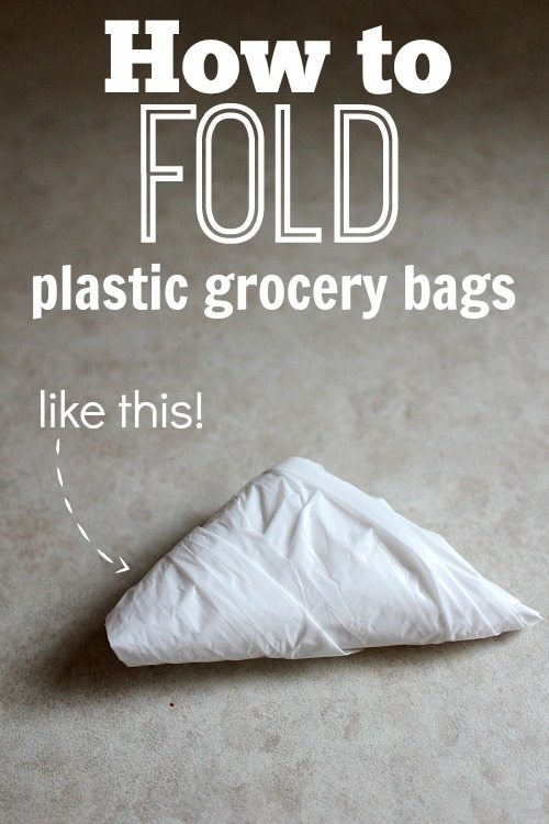 how to fold grocery bags the creek line house. Black Bedroom Furniture Sets. Home Design Ideas