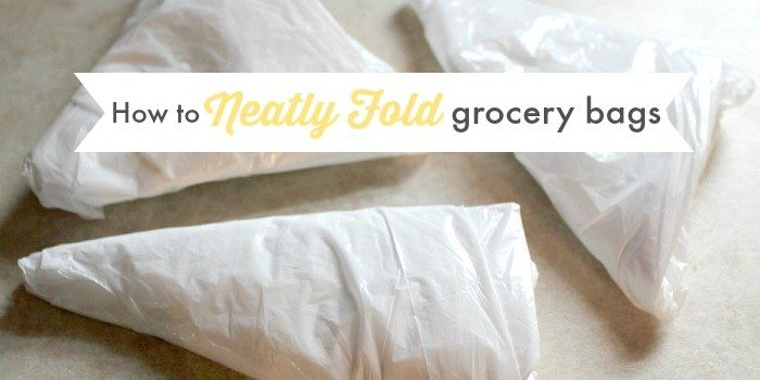 How to Fold Grocery Bags