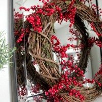 DIY Red Berry Wreath on the Cheap!