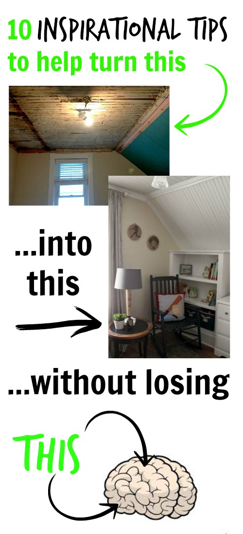 So helpful!  10 great tips to avoid losing your mind during major renovations.