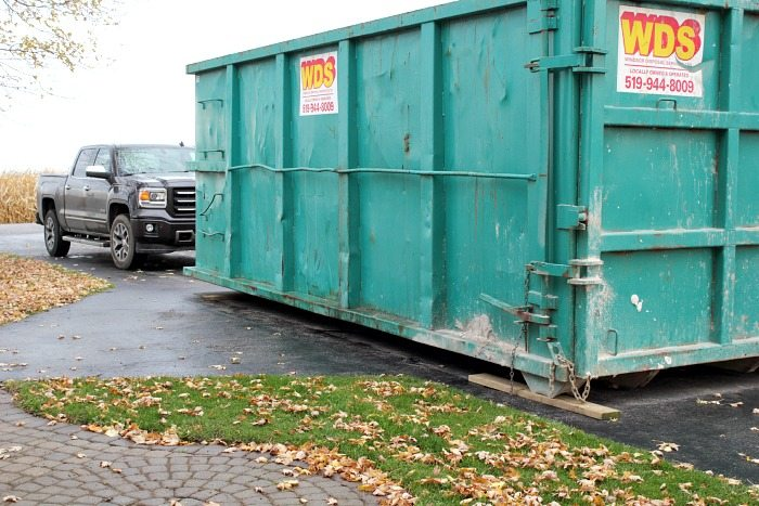 Tips for dumpster rental decluttering and some wild before and after pictures!