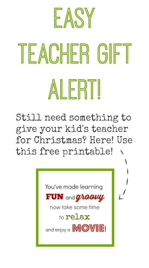 An easy teacher gift idea with a free printable to finish it off!
