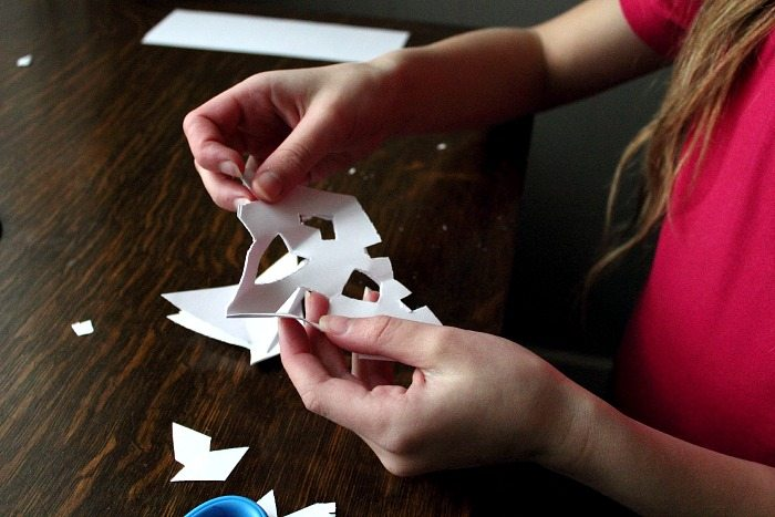 How to Make Paper Snowflake - Step 3 - Cutting Perfect Paper Snowflakes