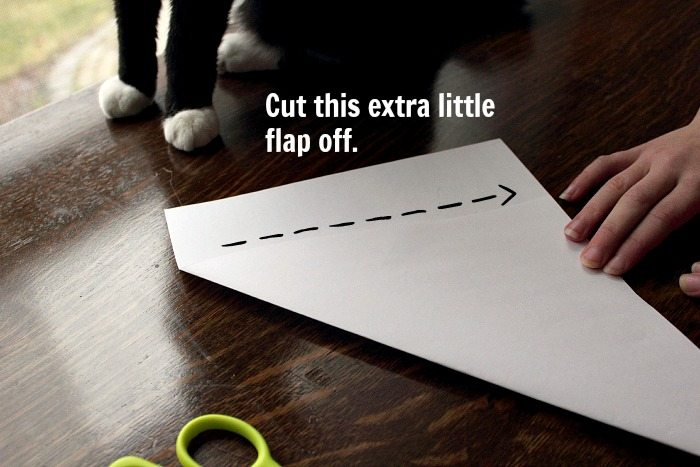 How to Make Paper Snowflake - Step 1