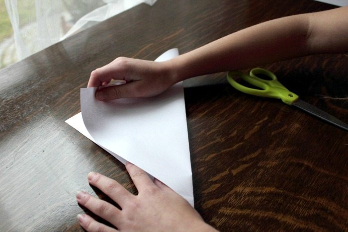 How to Make Paper Snowflake - Step 2 - Proper Folding