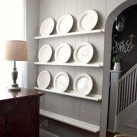 The Easiest DIY Plate Rack Ever
