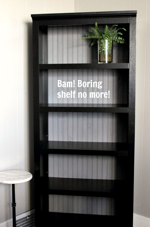 Diy Stock Book Shelf Update With Beadboard The Creek