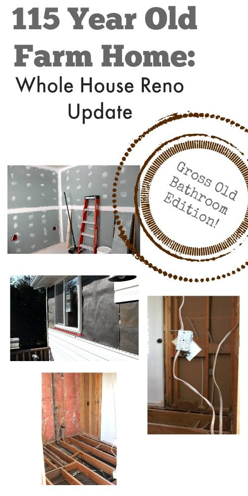 Everything you need to know about our bathroom reno so far for Renovating a 100 year old farmhouse