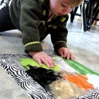 Colorful, No Mess Sensory Activity for Toddlers!