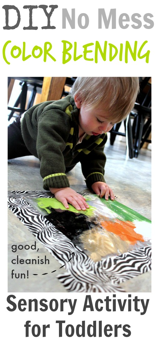 All the fun of finger painting and sensory bins for toddlers without the mess!