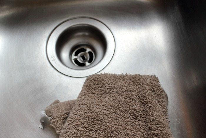 How to clean, shine, and sanitize your stainless steel sink naturally! Awesome!