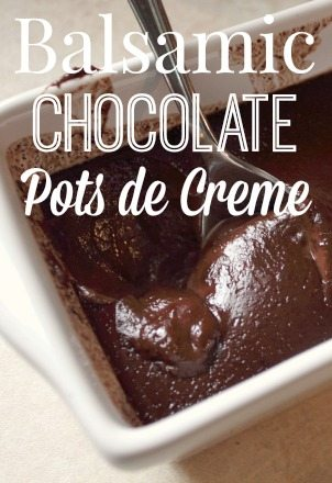 These Balsamic Chocolate Pots de Creme are an amazing chocolatey treat perfect for sharing! Or not!